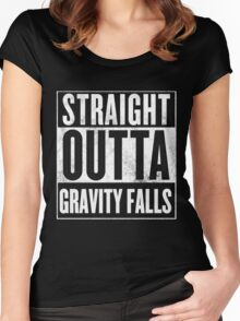 straight outta gravity falls Women's Fitted Scoop T-Shirt