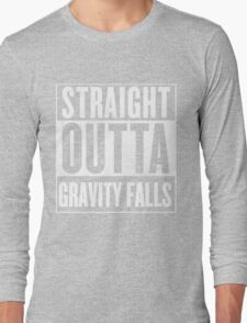 straight outta gravity falls Long Sleeve T-Shirt