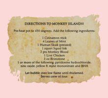 Directions to monkey island Kids Tee