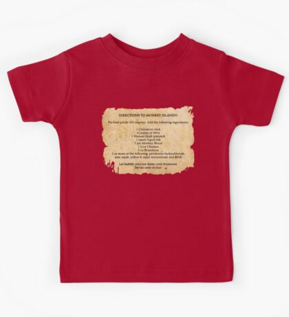 Directions to monkey island Kids Tee