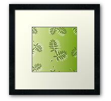 Pattern of leaves Framed Print