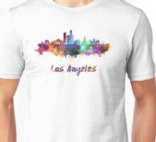Los Angeles skyline in watercolor Unisex T-Shirt