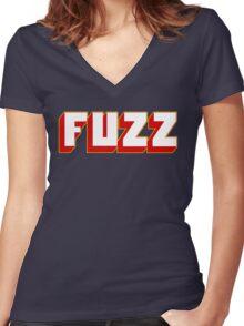 Fuzz Women's Fitted V-Neck T-Shirt