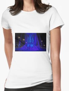 """""""The Fountain"""" all in Blue Womens Fitted T-Shirt"""