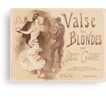 Cover for sheet music Valse des blondes by Louis Ganne Jules Chéret Metal Print