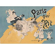 Cover for the book Paris qui rit by Georges Duval Jules Chéret Photographic Print