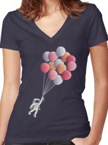 Freefloater Women's Fitted V-Neck T-Shirt