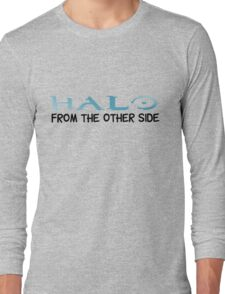 Halo Video Games Adele Hello Music Quotes Funny Sarcastic Long Sleeve T-Shirt