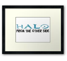 Halo Video Games Adele Hello Music Quotes Funny Sarcastic Framed Print