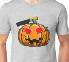 Funny Pumpkin Emoji Heart Love Emoticon Halloween T-Shirt Unisex T-Shirt