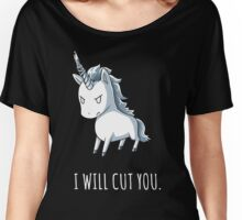 Unicorn lover - I will cut you Women's Relaxed Fit T-Shirt