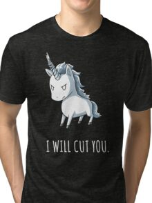 Unicorn lover - I will cut you Tri-blend T-Shirt