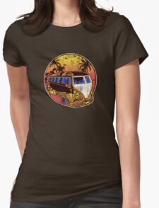 Happy Camper. Womens Fitted T-Shirt
