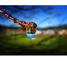A Raindrop in a Suburb, a Suburb in a Raindrop Photographic Print