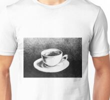 Drawing of coffee cup and saucer Unisex T-Shirt