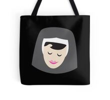 a smiling simple nun in a wimple Tote Bag