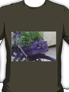 bicycle with lavender T-Shirt