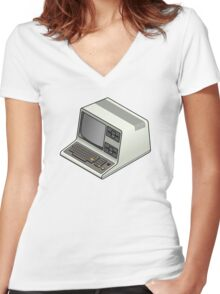 Tandy TRS-80 Women's Fitted V-Neck T-Shirt