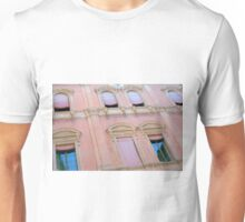 Classical building facade in pink shades Unisex T-Shirt