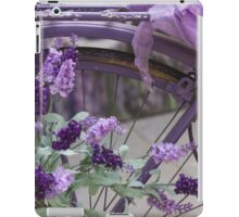 bicycle with lavender iPad Case/Skin