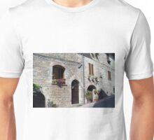 Stone street in Assisi Unisex T-Shirt
