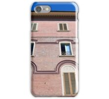 Classical building facade in pink shades iPhone Case/Skin