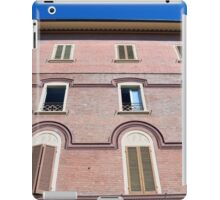 Classical building facade in pink shades iPad Case/Skin