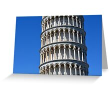 Detail of the leaning tower from Pisa Greeting Card