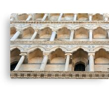 Decorative facade with columns, arches and portico. Canvas Print