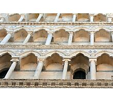 Decorative facade with columns, arches and portico. Photographic Print
