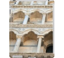 Decorative facade with columns, arches and portico. iPad Case/Skin
