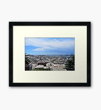 Aerial view of Genova Framed Print