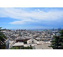 Aerial view of Genova Photographic Print