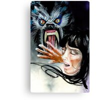 Werewolf Attacking  Canvas Print
