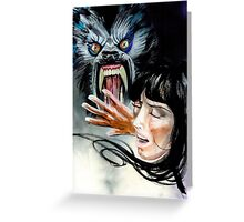 Werewolf Attacking  Greeting Card
