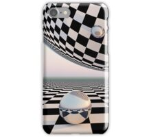Checkered Surreal Horizon iPhone Case/Skin
