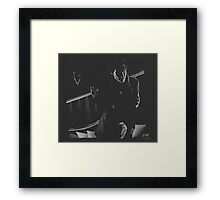 A Study in Black  Framed Print