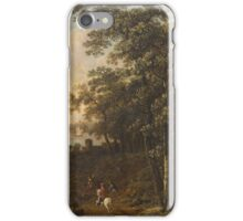 Probably Austrian painter from the 2nd half of the 18th century Landscape with Hunters, iPhone Case/Skin