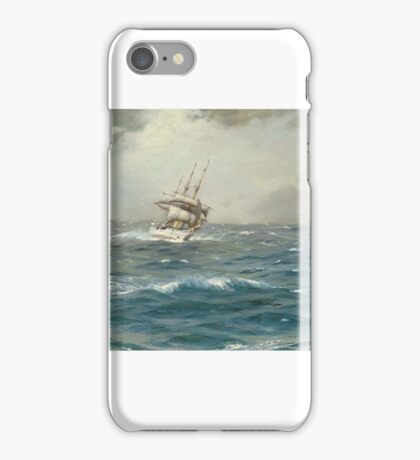 Thomas Jacques Somerscales (Hull )   The Chilean Navy's training ship General Baquedano off Las Evangelistas, Chile iPhone Case/Skin