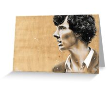 Charcoal & coffee Sherlock Greeting Card