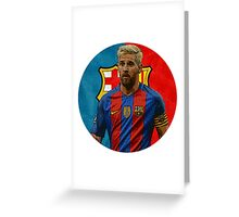 Lionel Messi Barcelona Greeting Card