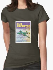 b-24 liberator poster Womens Fitted T-Shirt