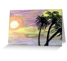 Highlighted by Sunset Greeting Card