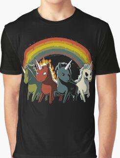 Four Unicorns of the Apocalypse Graphic T-Shirt