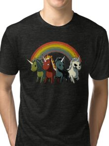 Four Unicorns of the Apocalypse Tri-blend T-Shirt
