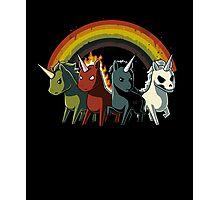 Four Unicorns of the Apocalypse Photographic Print