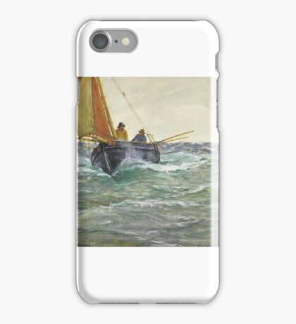 Charles Napier Hemy, R.A., R.W.S. (Newcastle-upon-Tyne  Falmouth)   A mackerel boat - the run home iPhone Case/Skin