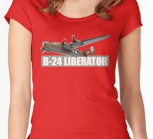 liberator b-24 Women's Fitted Scoop T-Shirt