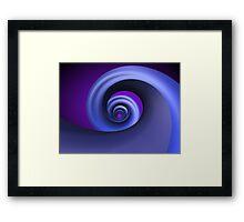 Abstract Blue Spiral Spring Framed Print