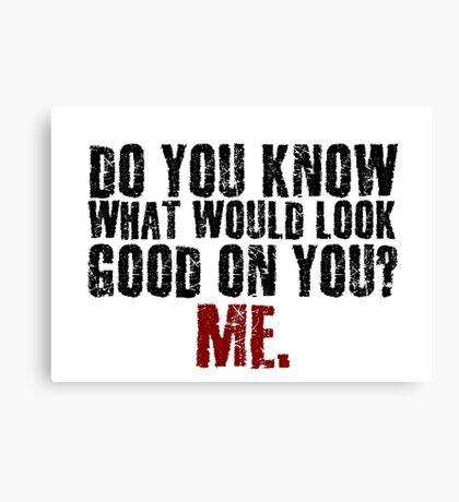 Funny Girlfriend Boyfriend Humor Relationship Joke Canvas Print